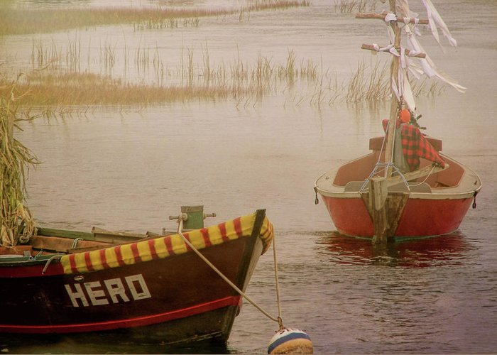 Boat Greeting Card featuring the photograph Dennisport Marsh by JAMART Photography