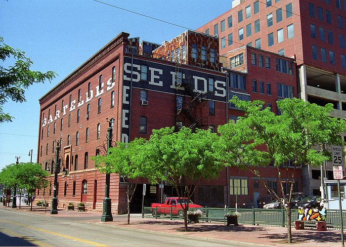 16th Greeting Card featuring the photograph Denver Downtown Warehouse by Frank Romeo