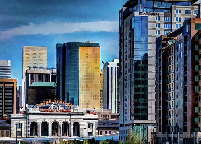 Colorado Greeting Card featuring the photograph Denver Union Station II by Dave Thompsen