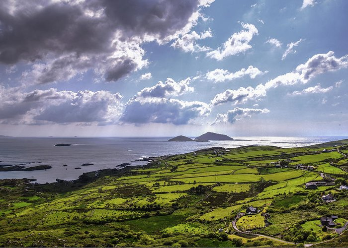 Derrynane Greeting Card featuring the photograph Derrynane National Park Along Ring Of Kerry, Ireland by Bob Cuthbert