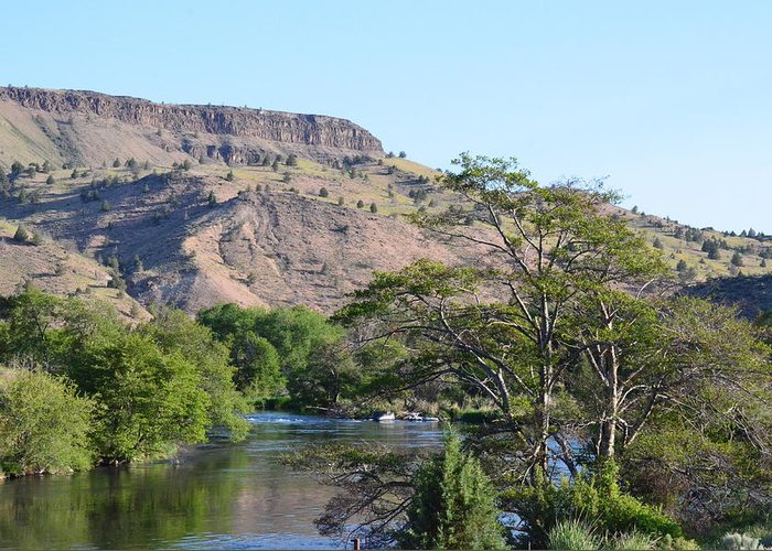 Deschutes Greeting Card featuring the photograph Deschutes River At Trout Creek by Linda Larson
