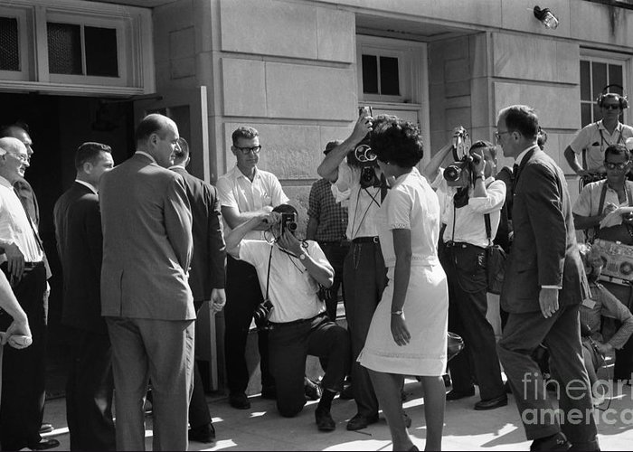 1963 Greeting Card featuring the photograph Desegregation, 1963 by Granger