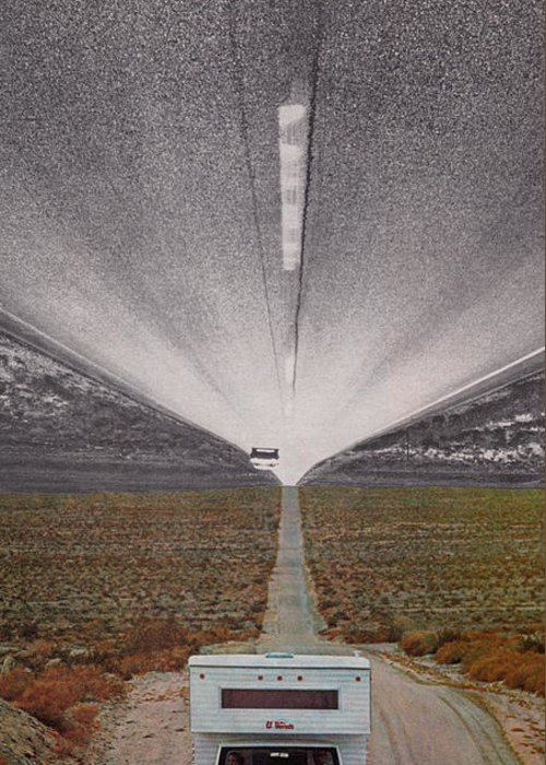 Starcrow Greeting Card featuring the mixed media Desert Drive by Starcrow Astrology