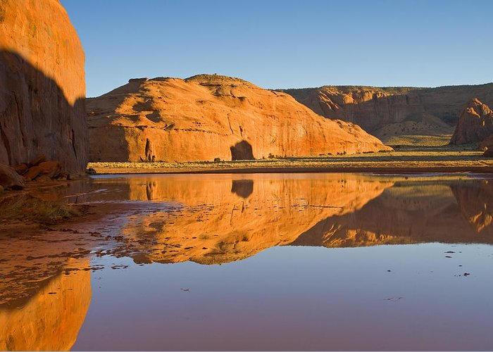 Pool Greeting Card featuring the photograph Desert Pools by Mike Dawson