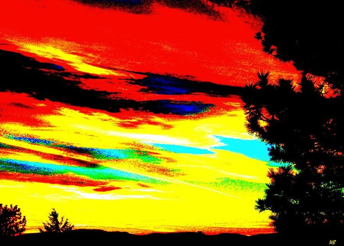 Abstract Greeting Card featuring the digital art Desert Sky by Will Borden