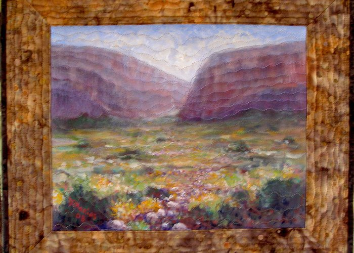 Realism Greeting Card featuring the mixed media Desert Spring by Diane and Donelli DiMaria