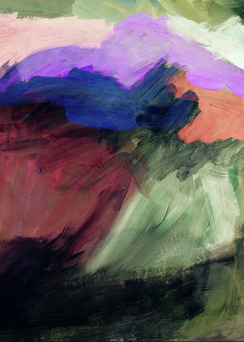 Abstract Painting Greeting Card featuring the painting Desert Sunset 1- Art By Linda Woods by Linda Woods
