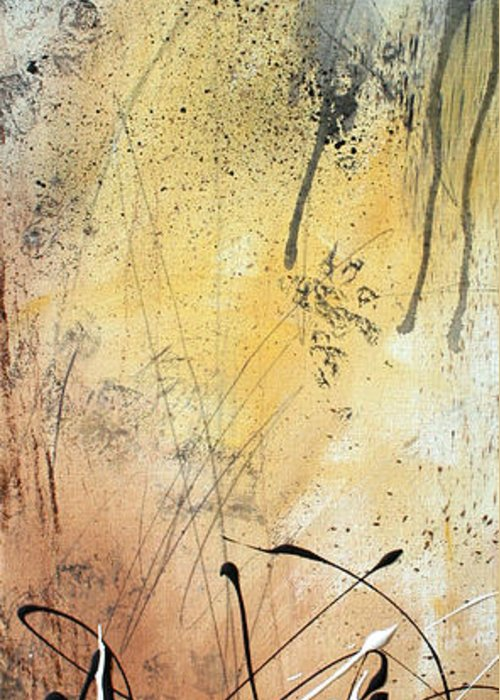 Wall Greeting Card featuring the painting Desert Surroundings 1 By Madart by Megan Duncanson