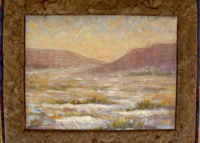 Realism Greeting Card featuring the mixed media Desert Winter by Diane and Donelli DiMaria