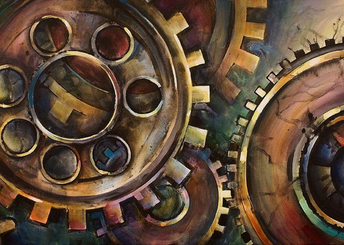 Greeting Card featuring the painting Design One by Michael Lang