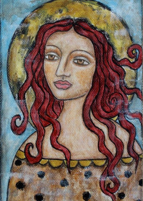 Paintings Greeting Card featuring the painting Desiree by Rain Ririn