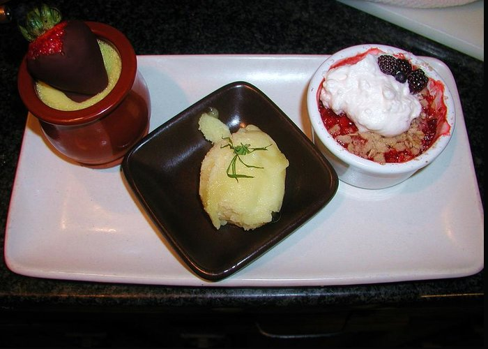 Food Greeting Card featuring the photograph Dessert Trio by Ian Michaud