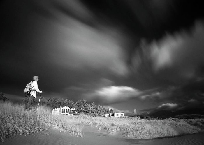 Infrared Greeting Card featuring the photograph Destination by William Lee