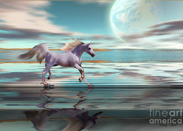 Horse Greeting Card featuring the painting Destiny by Corey Ford