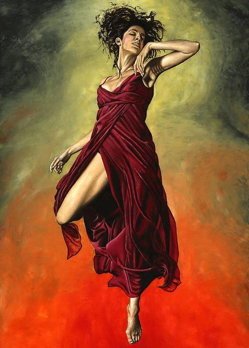 Dance Greeting Card featuring the painting Destiny's Dance by Richard Young