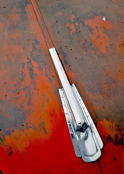 Car Abstract Greeting Card featuring the photograph Deterioration by Anthony Manfredo