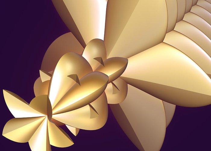 Incendia Greeting Card featuring the digital art Developing New Star by Deborah Benoit