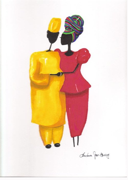 Painting Greeting Card featuring the painting Devotion by Bee Jay