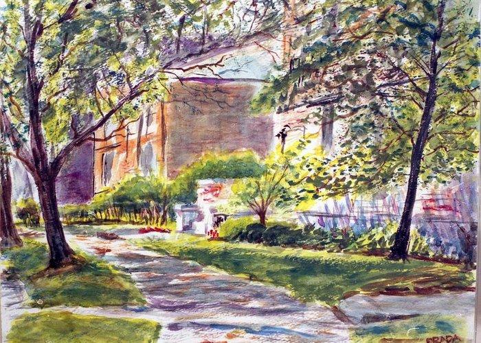 Landscape Greeting Card featuring the painting Dia Luminoso by Horacio Prada