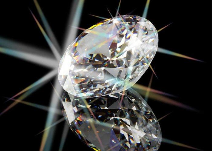 Abundance Greeting Card featuring the jewelry Diamond by Atiketta Sangasaeng