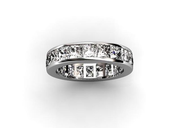 Diamond Eternity Ring Greeting Card featuring the jewelry Diamond Eternity Ring by Michael Trio