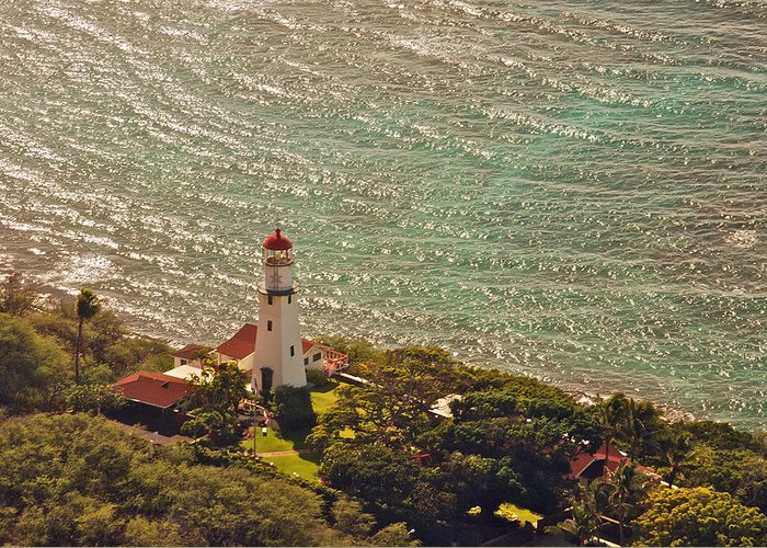 Landscape Greeting Card featuring the photograph Diamond Head Lighthouse by Michael Peychich