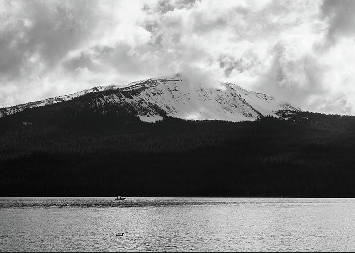 Greeting Card featuring the photograph Diamond Lake by Jade Woods