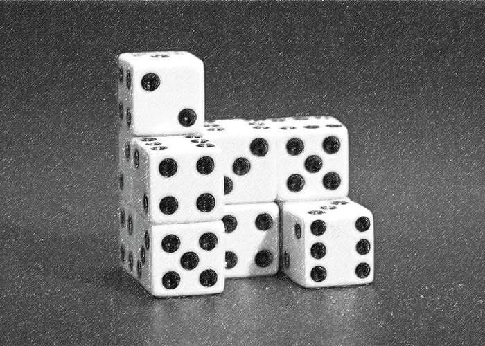 Dice Greeting Card featuring the photograph Dice Cubes I by Tom Mc Nemar