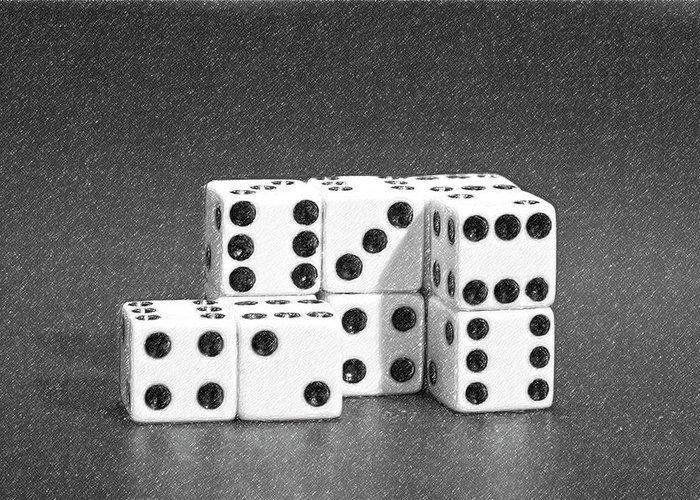 Dice Greeting Card featuring the photograph Dice Cubes II by Tom Mc Nemar
