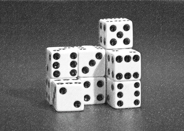 Dice Greeting Card featuring the photograph Dice Cubes IIi by Tom Mc Nemar
