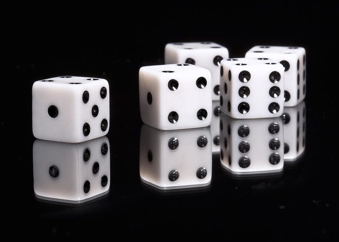 Dice Greeting Card featuring the photograph Dice II by Tom Mc Nemar
