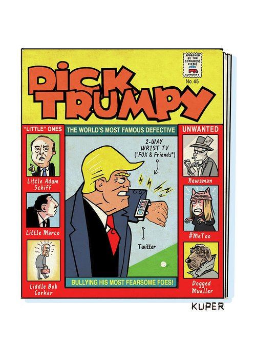 The Misadventures Of Dick Trumpy Greeting Card featuring the drawing Dick Trumpy by Peter Kuper