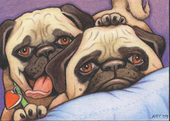 Dog Greeting Card featuring the drawing Did Someone Say Cookie by Amy S Turner