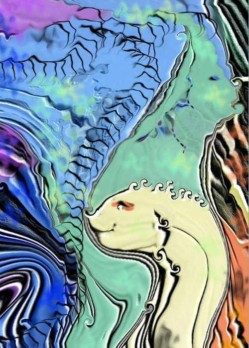 Fantasy Air Greeting Card featuring the digital art Different Points Of View by Stephanie H Johnson