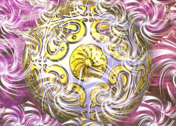Abstract Digital Art Greeting Card featuring the photograph Digital Ball by Guillermo Mason