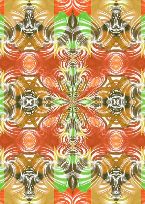 Abstract Digital Art Greeting Card featuring the photograph Digital Colors by Guillermo Mason