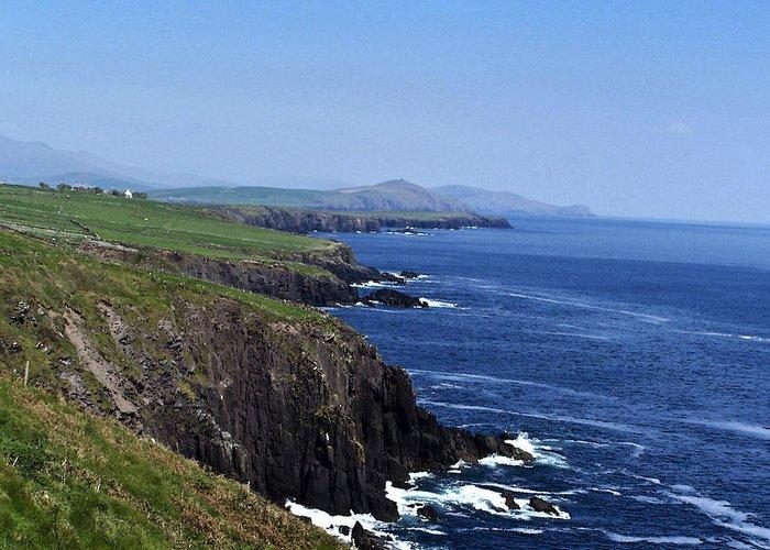 Irish Greeting Card featuring the photograph Dingle Coast Near Fahan Ireland by Teresa Mucha