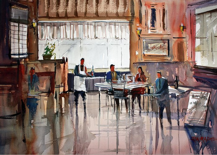 Ryan Radke Greeting Card featuring the painting Dinner For Two by Ryan Radke