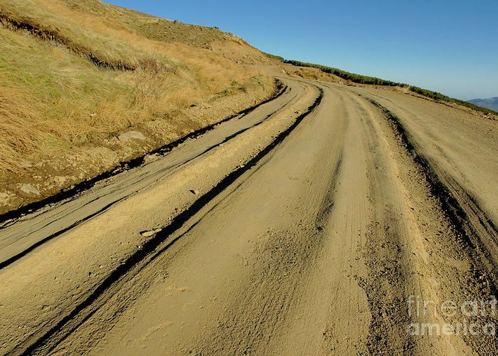 Alpujarra Greeting Card featuring the photograph Dirt Road Winding by Sami Sarkis