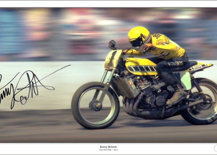 Motorcycle Greeting Card featuring the photograph Dirt Speed by Lar Matre