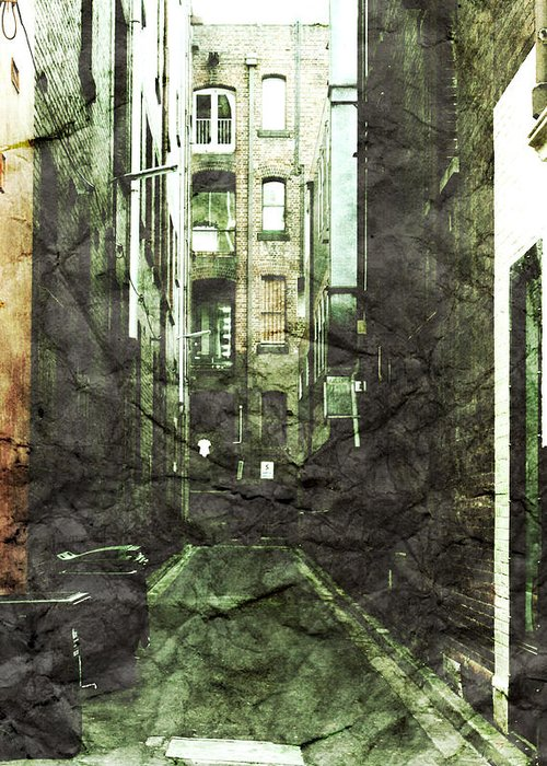 Alley Greeting Card featuring the photograph Discounted Memory by Andrew Paranavitana