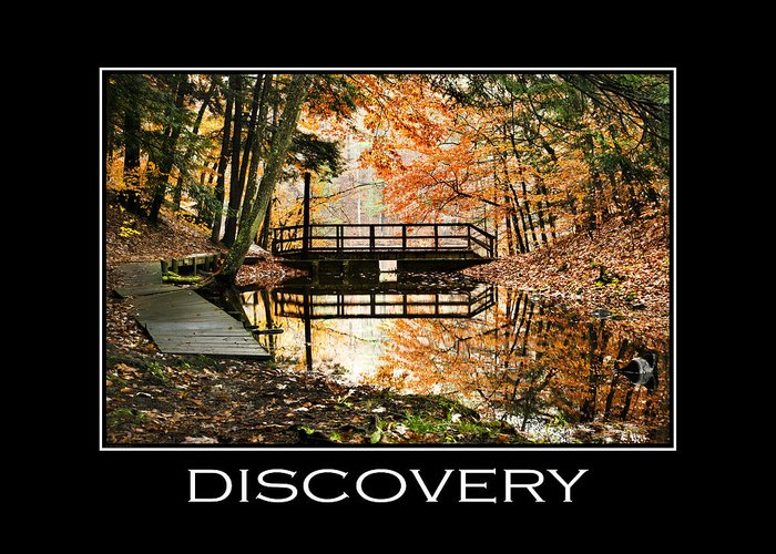 Discovery Greeting Card featuring the mixed media Discovery Inspirational Motivational Poster Art by Christina Rollo