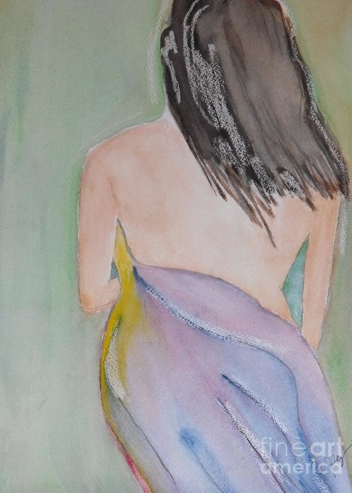 Watercolor Greeting Card featuring the painting Discreet by Djl Leclerc