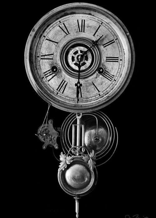 Clock Greeting Card featuring the photograph Disembodied Time by Joe Bonita