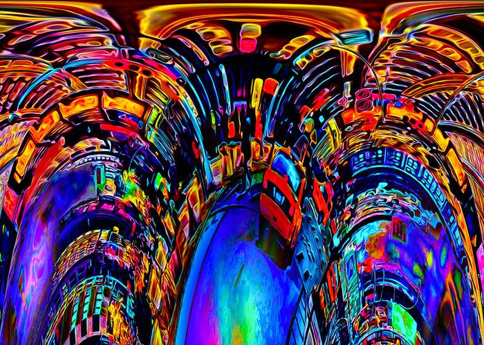World's Greeting Card featuring the digital art Distant Future by Ron Fleishman