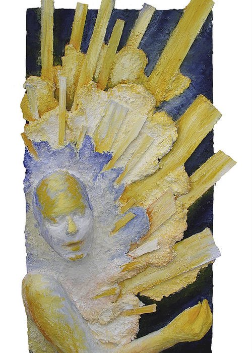 Rosemary Greeting Card featuring the painting Distant Sharing II - Received by Rosemary Wessel