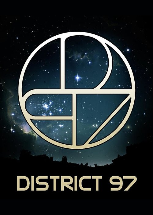 Greeting Card featuring the digital art District 97 Logo by District 97
