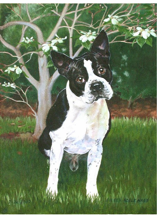 Portrait Greeting Card featuring the painting Ditto by Eileen Hale