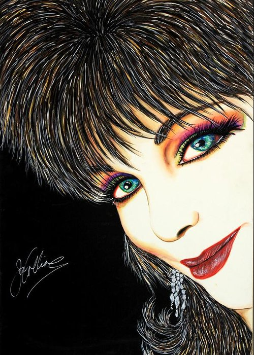 Actress Greeting Card featuring the mixed media Diva Nasty by Joseph Lawrence Vasile