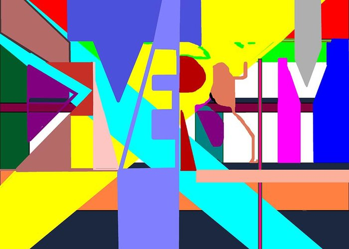 Diversity Greeting Card featuring the digital art Diversity Enmeshed by Pharris Art